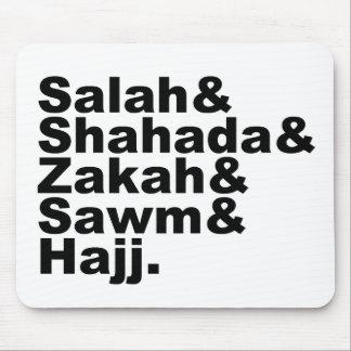 Los cinco pilares de la fe musulmán del rezo del I Alfombrillas De Raton