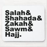 Los cinco pilares de la fe musulmán del rezo del I Alfombrilla De Raton