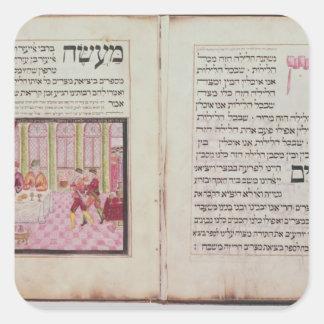 Los cinco rabinos de Bne Brak Calcomania Cuadradas Personalizadas