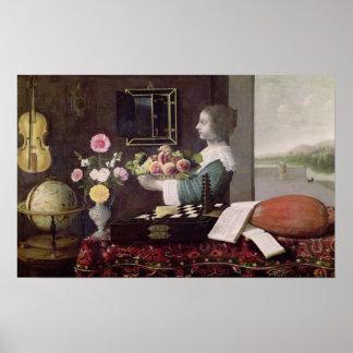 Los cinco sentidos, o verano, 1633 poster