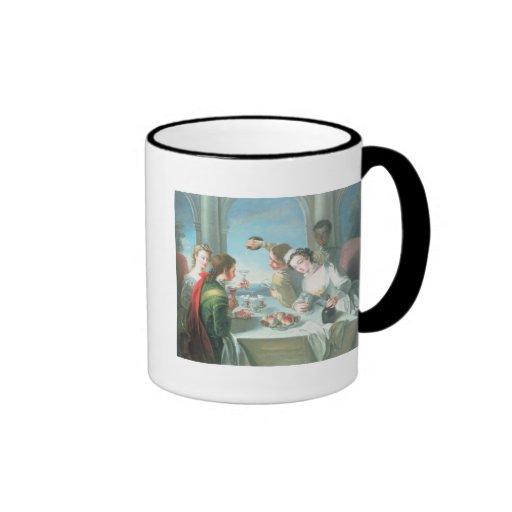 Los cinco sentidos taza de café