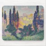 Los cipreses en Cagnes, 1908 Alfombrillas De Ratones