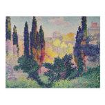 Los cipreses en Cagnes, 1908 Postales