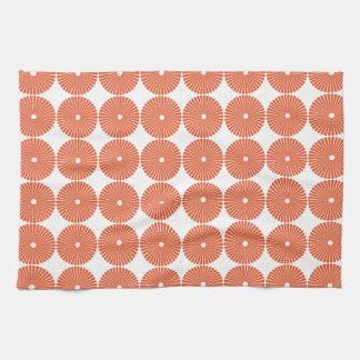 Los círculos anaranjados bonitos del melón texturi toallas