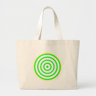 Los círculos concéntricos coloridos llevan el bolsa tela grande