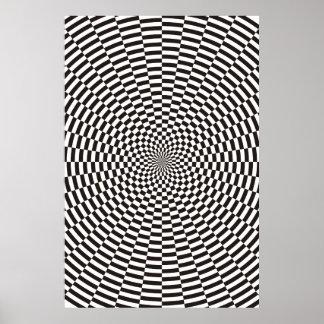 Los círculos concéntricos desplazaron 9 grados de póster
