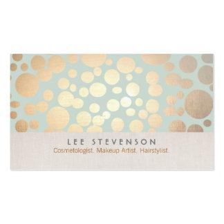 Los círculos del oro de la cosmetología palidecen tarjetas de visita