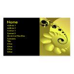Los círculos espirales amarillos refrescan el extr tarjetas de visita