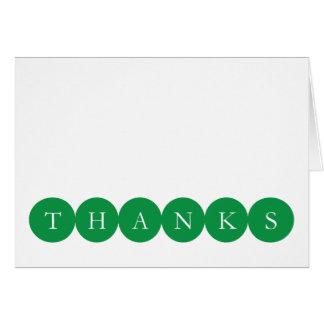 Los círculos verdes le agradecen Notecard Tarjeta Pequeña
