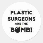 ¡Los cirujanos plásticos son la bomba! Pegatina Redonda