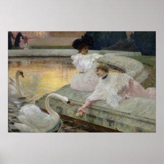 Los cisnes, 1900 poster