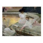 Los cisnes, 1900 postales