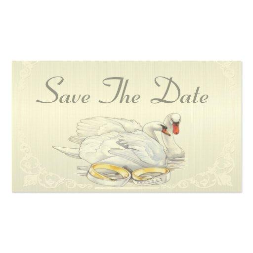 Los cisnes - ahorre la tarjeta de fecha plantilla de tarjeta personal