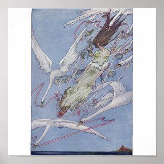 Los cisnes salvajes póster