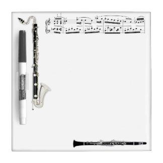 Los Clarinets secan al tablero del borrado Pizarras Blancas