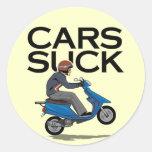 Los coches chupan - la vespa etiquetas redondas