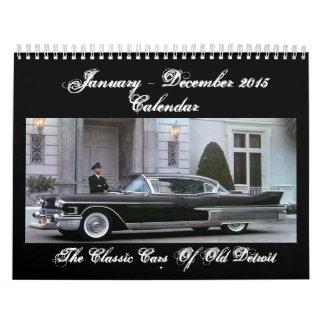 Los coches clásicos del calendario viejo de