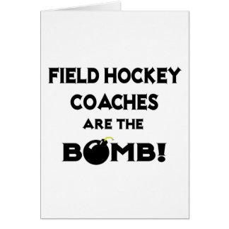 ¡Los coches de hockey hierba son la bomba! Tarjeta De Felicitación