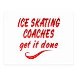Los coches del patinaje de hielo lo consiguen postal