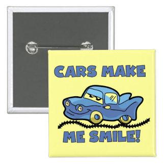 Los coches me hacen las camisetas y los regalos de pins