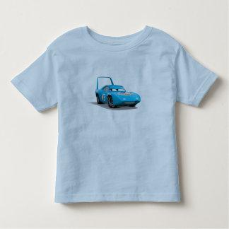 """Los coches pelan """"el coche de carreras de Dinoco Playera De Bebé"""