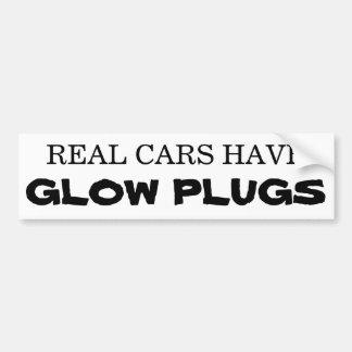 Los coches reales tienen ENCHUFES de RESPLANDOR Pegatina Para Auto