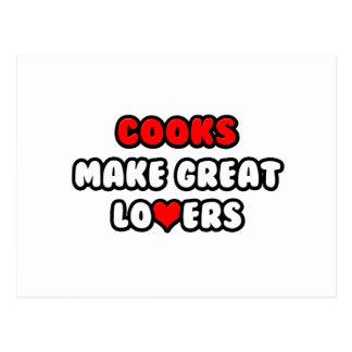 Los cocineros hacen a grandes amantes postales