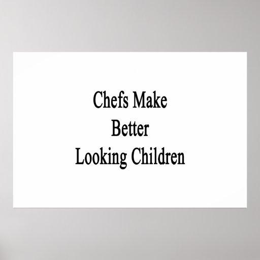 Los cocineros hacen a niños más apuestos posters