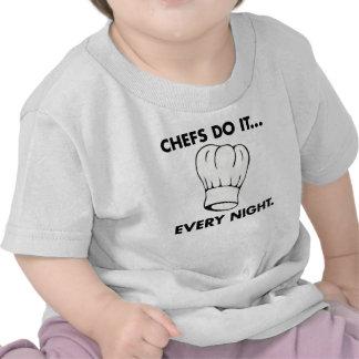 Los cocineros lo hacen… Cada noche Camisetas