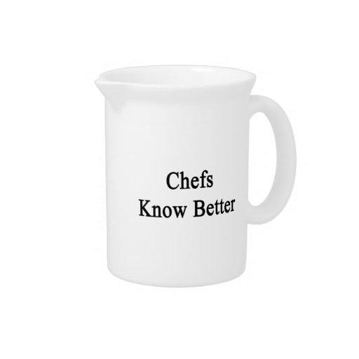 Los cocineros saben mejor jarras