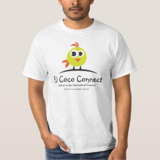 Los Cocos del EL conectan - la camisa del logotipo