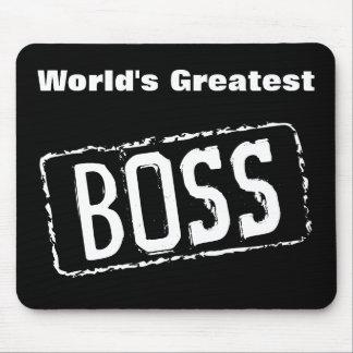 Los cojines de ratón más grandes de Boss del mundo Alfombrilla De Ratón