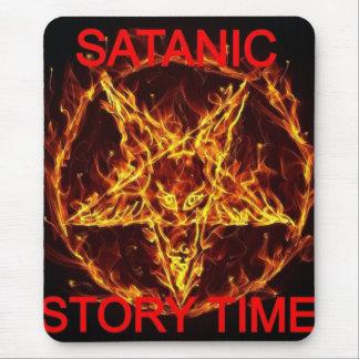 ¡Los cojines de ratón satánicos del tiempo de la h Tapete De Raton