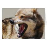Los colmillos del lobo tarjeta de felicitación