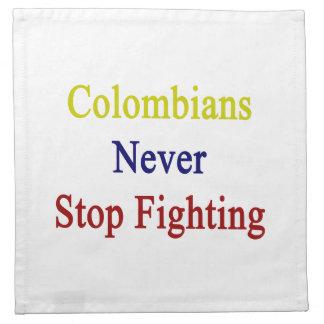 Los Colombians nunca paran el luchar Servilletas Imprimidas