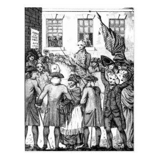 Los colonos americanos se declararon tarjeta postal
