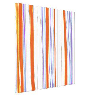 Los colores brillantes rayaron la pintura de acríl lona estirada galerias