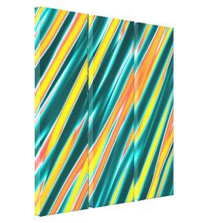Los colores brillantes rayaron la pintura de acríl impresion de lienzo