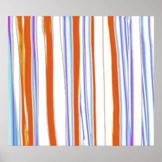 Los colores brillantes rayaron la pintura de acríl impresiones
