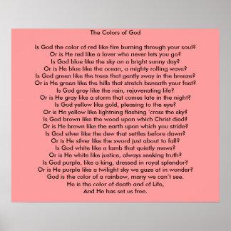 Los colores de dios: Un poema Póster