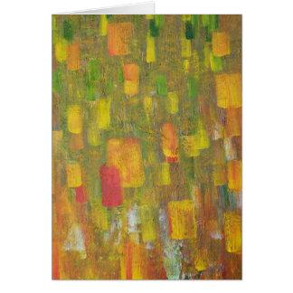 Los colores de la caída tarjeta de felicitación