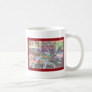 Los colores de la niñez imprimen la taza II del wb
