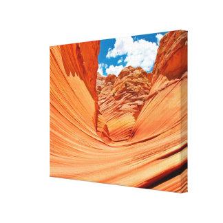 Los colores de la onda lienzo envuelto para galerías