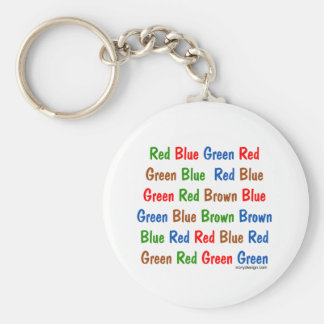 Los colores de la prueba de Stroop Llavero Redondo Tipo Pin