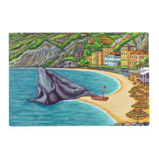 Los colores de Monterosso laminaron Placemat Salvamanteles
