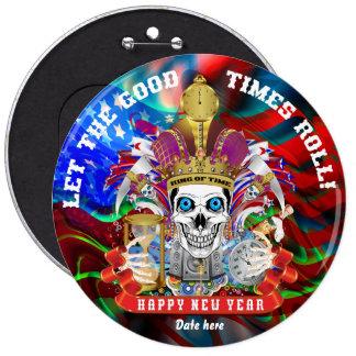 Los colores del Año Nuevo 37 leídos sobre diseño Pin Redondo De 6 Pulgadas