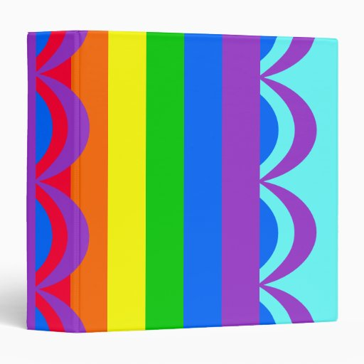 Los colores del arco iris diseñaron carpetas
