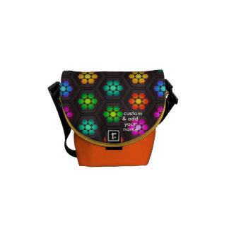 Los colores del arco iris imprimieron MessengerBag Bolsas Messenger
