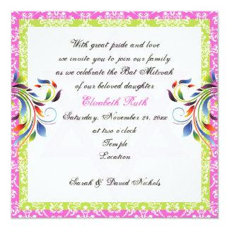 """Los colores del arco iris prosperan y estrella del invitación 5.25"""" x 5.25"""""""