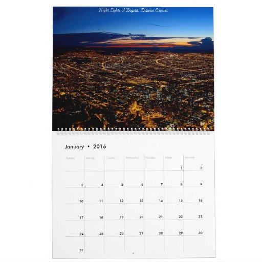 Los colores del calendario 2013 de Colombia